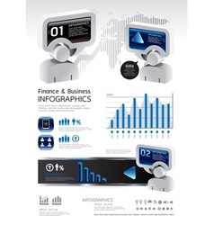 elements of business and finance vector image