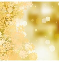 Festive gold Christmas with bokeh lights EPS 8 vector
