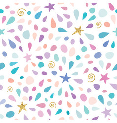 festive seamless pattern with glitter confetti vector image