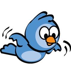 Flying bluebird vector