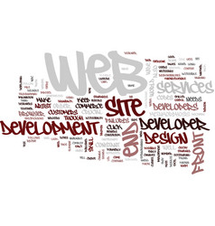 Front end web developer metamorphosis text vector