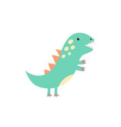 Funny little tyrannosaurus rex in childish style vector