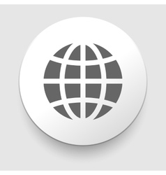 Globe earth icons on white background vector image