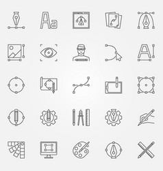 graphic design icons set graphics symbols vector image