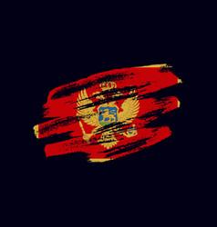 Grunge textured montenegrin flag vector