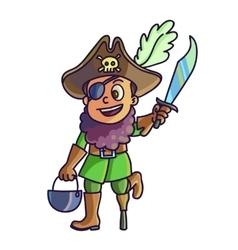 Happy halloween Cartoon cute child in costume vector
