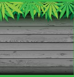 hemp and gray plank wooden background vector image vector image