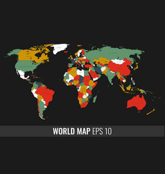 High detail geopolititcal world map vector