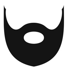 Hipster beard icon simple style vector