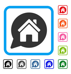 House mention framed icon vector