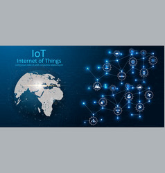 Internet things iot vector