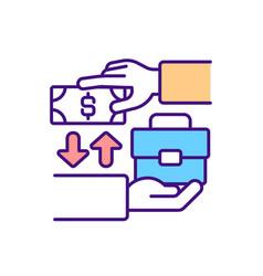 Job salary rgb color icon vector