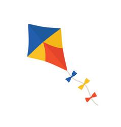 kite icon on white isolated vector image