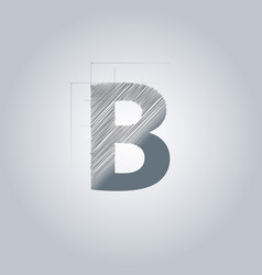 letter b logo alphabet logotype architectural vector image