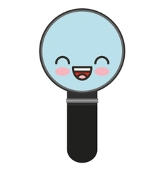 Magnifying glass character isolated icon vector