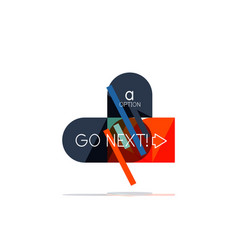 minimal flat clean abstract option step vector image