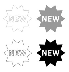 new symbol the black and grey color set icon vector image vector image
