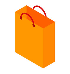 orange paper bag icon isometric style vector image