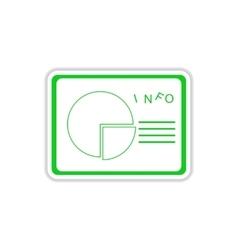 Paper sticker on white background presentation vector