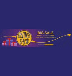 raksha bandhan sale banner vector image