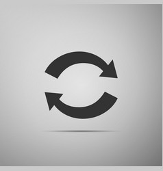 Refresh icon on grey background reload symbol vector