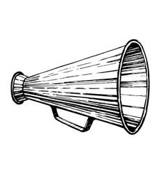 retro loudspeaker sketch vector image