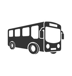 school bus icon in flat style autobus on white vector image
