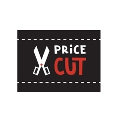 Scissors and Price cut logo vector image
