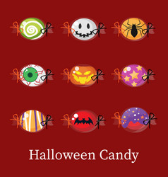 set of halloween candy vector image
