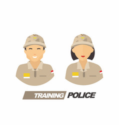 Set two man and woman trainee poli vector