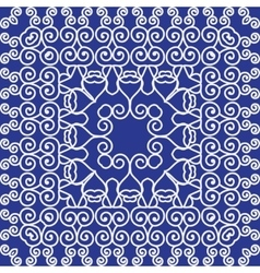 Simple pattern ornament kaleidoscope chinese vector