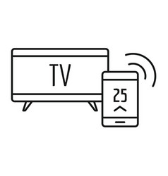 Smart tv icon outline style vector