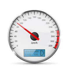speedometer speed gauge with metal frame vector image