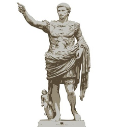Statue of Augustus vector image