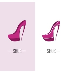 Stylized womens shoes Logo shoe store vector image
