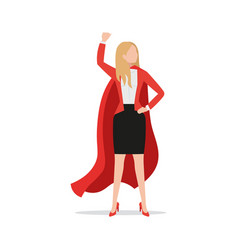 successful powerful businesswoman wearing red vector image