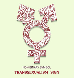symbol of transsexualism is a transgendered vector image