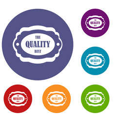 The quality best label icons set vector