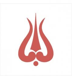 Thrishula symbol vector
