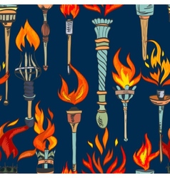 Torch sketch seamless pattern vector
