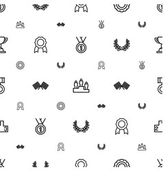 Victory icons pattern seamless white background vector