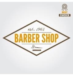 Vintage barber shop logo labels badges vector