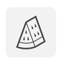 watermelon icon black vector image