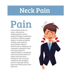 Work experiences pain in the neck vector