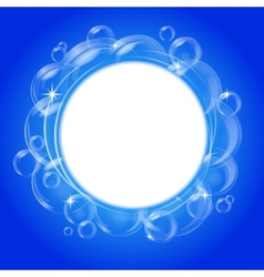 blue bubble background vector image vector image