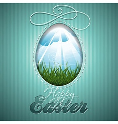Easter with abstract egg vector image vector image