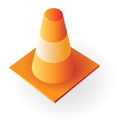 Isometric icon of traffic cone vector image vector image