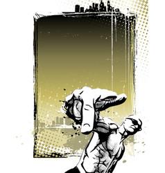 rapper poster background vector image vector image