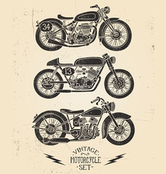 Vintage Motorcycle Set vector image vector image