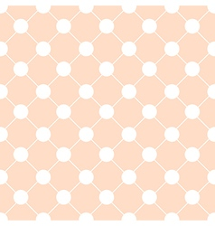 White Polka dot Chess Board Grid Orange vector image